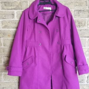 H&M Purple Coat. Size 9-10